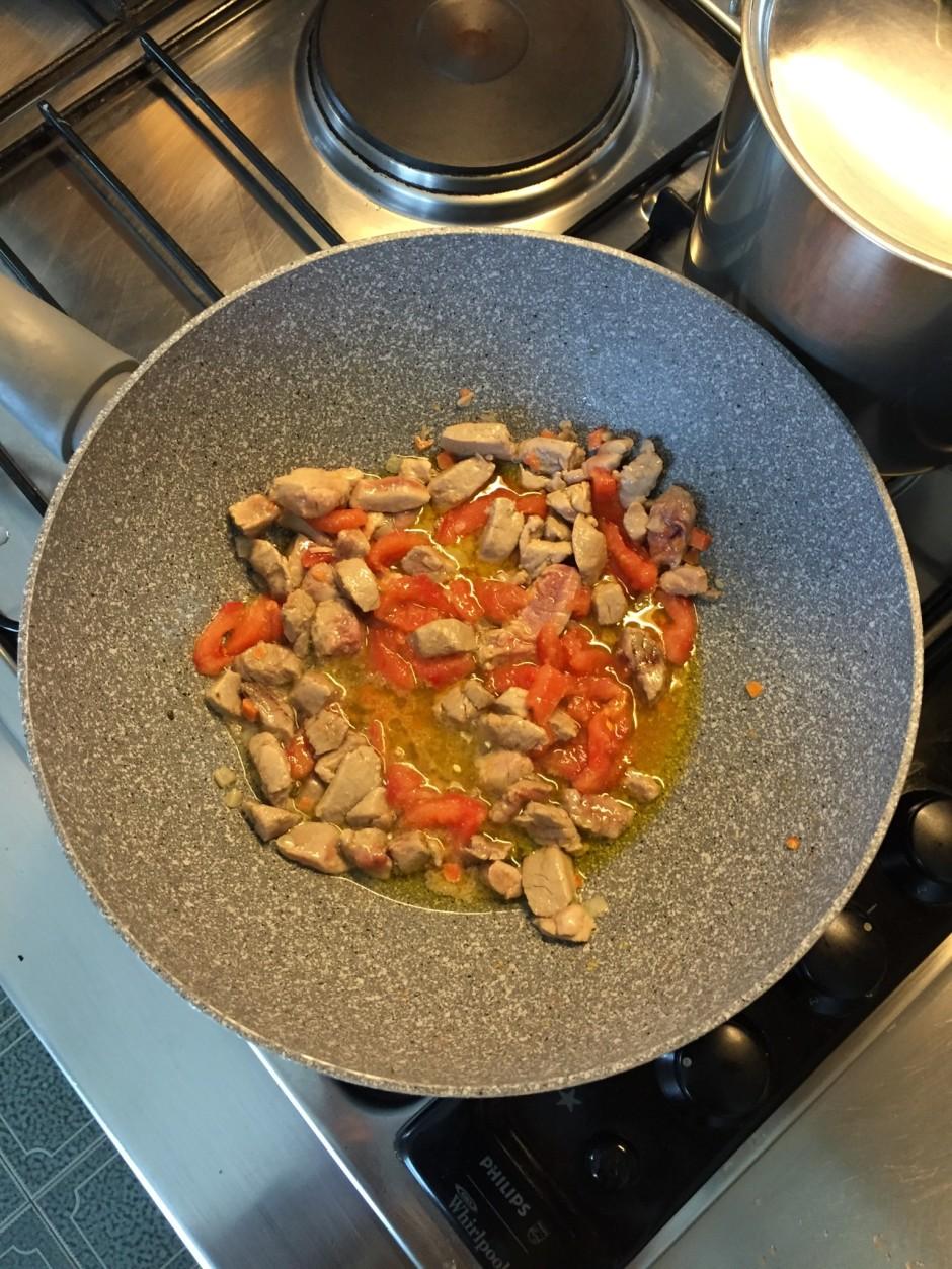 cook the tuna, then add a chopped tomato